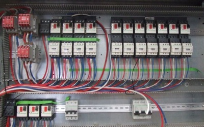 Electrical panel designed with Paneldes Panel CAD software